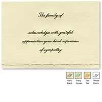 Engraved Acknowledgement Card #1051-5