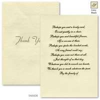 Engraved Acknowledgement Card #1051-7-30