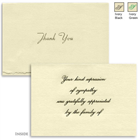 Engraved Acknowledgement Card #1051-30-89