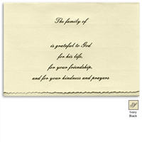 Engraved Acknowledgement Card #His