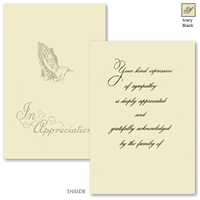 Engraved Acknowledgement Card #181-57