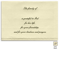 Engraved Acknowledgement Card #Her