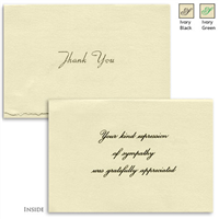 Engraved Acknowledgement Card #1051-30-88