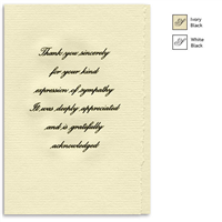 Engraved Acknowledgement Card #1051-20
