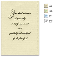Engraved Acknowledgement Card #1051-57