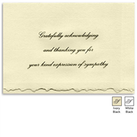 Engraved Acknowledgement Card #1051-15
