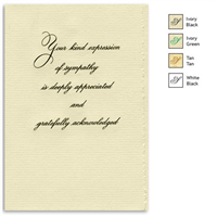 Engraved Acknowledgement Card #1051-56