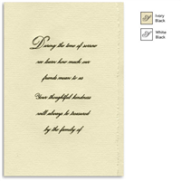 Engraved Acknowledgement Card #1051-77