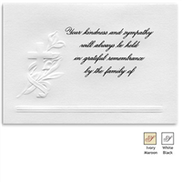 Engraved Acknowledgement Card #441-11F