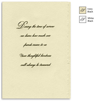 Engraved Acknowledgement Card #1051-76