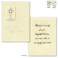 Engraved Acknowledgement Card #1065-80