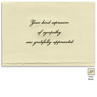 Engraved Acknowledgement Card #1051-88