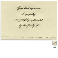 Engraved Acknowledgement Card #1051-89