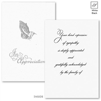 Engraved Acknowledgement Card #182-57