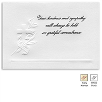 Engraved Acknowledgement Card #441-11
