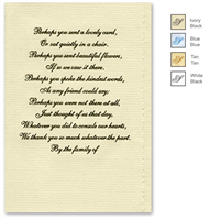 Engraved Acknowledgement Card #1051-7
