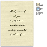 Engraved Acknowledgement Card #1051-81