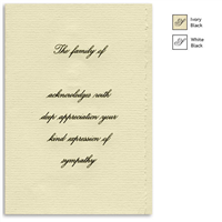 Engraved Acknowledgement Card #1051-55SC