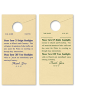 Church and Cemetary Headlight Cards #1028-2