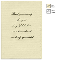Engraved Acknowledgement Card #1051-80